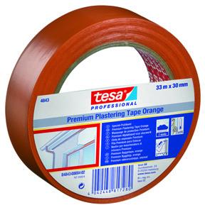 Protection et réparation dans le bâtiment – Adhésifs de Plâtrage Spécial Bâtiment – PVC Orange Premium tesa® 4843