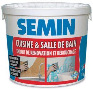 Cuisine et salle de bain- Enduit de rénovation et rebouchage.